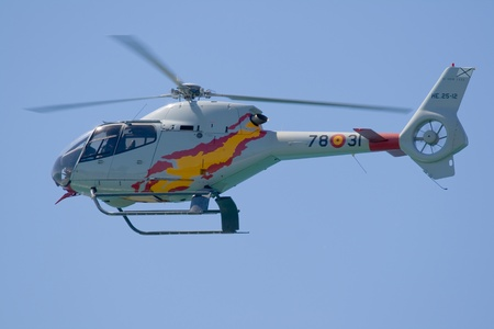 risking: Helicopter used in order that the future pilots accomplish their first practices