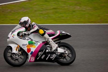 circuit brake: JEREZ DE LA FRONTERA, SPAIN - NOV 20: 125cc motorcyclist Miguel Poyatos Alarcon races in the CEV championship on Nov 20, 2010, in Jerez de la Frontera, Spain