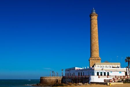 Wonderful lighthouse known as  lighthouse of Chipiona at the province of Cadiz photo