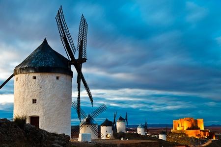castilla la mancha: Typical windmills of  Region of Castilla la Mancha