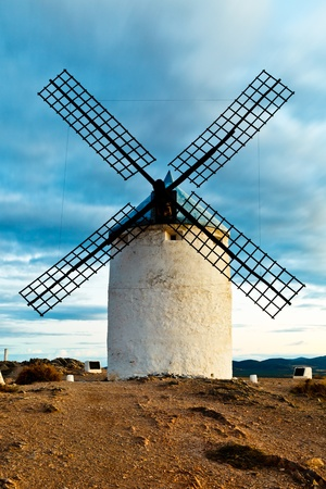 castilla: Typical windmills of  Region of Castilla la Mancha