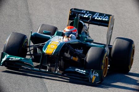 jarno: JEREZ DE LA FRONTERA, SPAIN - FEB 11: Jarno Trulli of Team Lotus F1 races on training session on February 11 , 2011, in Jerez de la Frontera , Spain