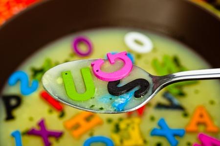 A hot- alphabet soup dish photo