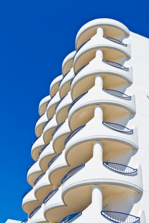 Balconies and facade of building of  the city of Cadiz Stock Photo - 13682022