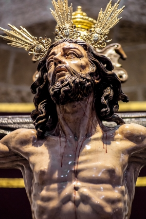 messiah: Christ of the forgiveness in the parish church of Santa Cruz, Cadiz, Spain Stock Photo