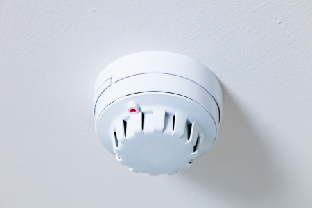 A smoke detector fire alarm photo