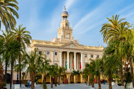 Old city hall of the city of Cadiz, Spain