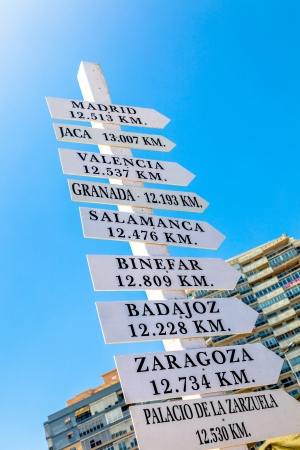 addresses: Group of addresses in a directional sign