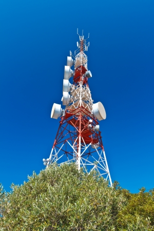 Communications tower with a beautiful blue sky Stock Photo - 15939063