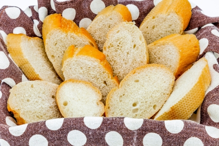 recently: A basket with bread recently baked
