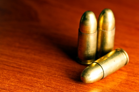 9mm: Set of bullets of hand gun Stock Photo