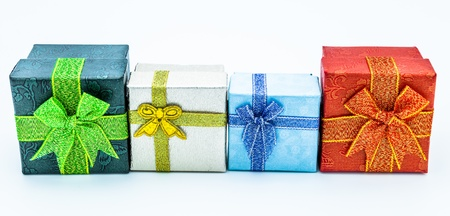 boxs: Lots of gift boxs of different colors Stock Photo