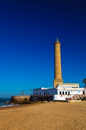 Wonderful lighthouse known as  lighthouse of Chipiona at the province of C&Atilde,&iexcl,diz photo