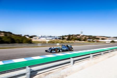 turns of the year: JEREZ DE LA FRONTERA, ESPA�A - 08 de febrero: Lewis Hamilton, de Mercedes AMG carreras del equipo Petronas F1 en la sesi�n de entrenamiento el 08 de febrero de 2013, en Jerez de la Frontera, Espa�a