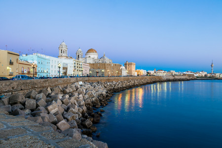 Wonderful cathedral of neoclassical style of ancient city of Cádiz Stock Photo