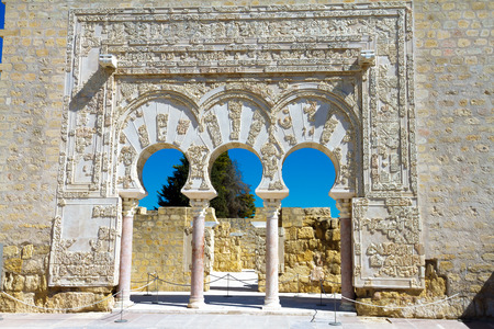 caliphate: Entrance of Yafars house, in archeological set of Madinat al-Zahra, Cordoba, Spain