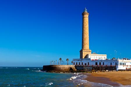Wonderful lighthouse known as  lighthouse of Chipiona at the province of Cádiz