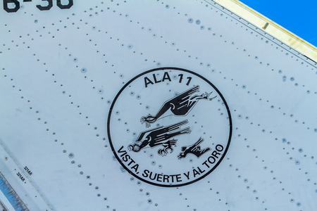 ALBACETE, SPAIN-JUN 23: Detail of a spanish aircraft Eurofighter Typhoon C-16 taking part in a static exhibition on the open day of the airbase of Los Llanos on Jun 23, 2013, in Albacete, Spain