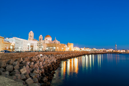 Wonderful cathedral of neoclassical style of ancient city of Cádiz photo
