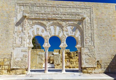Entrance of Yafars house, in archeological set of Madinat al-Zahra, Cordoba, Spain