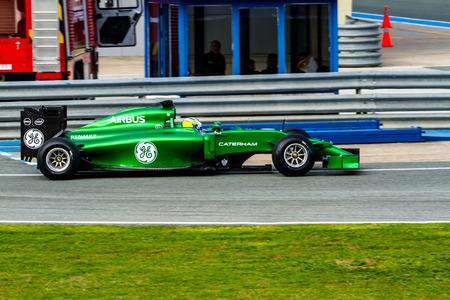 ericsson: JEREZ DE LA FRONTERA, SPAIN - JAN 28: Marcus Ericsson of Caterham F1 races on training session on January 28 , 2014, in Jerez de la Frontera , Spain