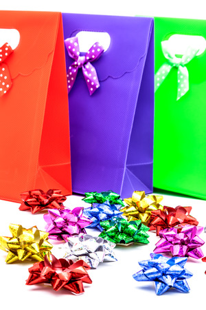 loops: Lots of gift bags and loops of different colors