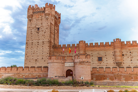 Castle of the Mota - famous old castle in Medina del Campo, Valladolid ,Castilla y Leon, Spain