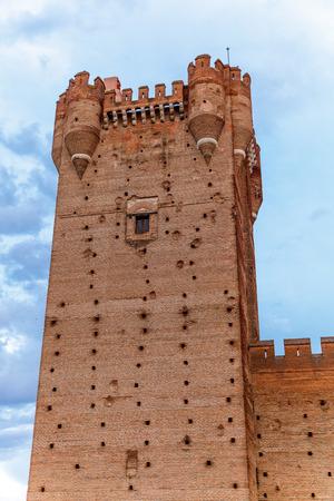 crenellated: Castle of the Mota - famous old castle in Medina del Campo, Valladolid ,Castilla y Leon, Spain