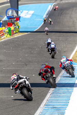 motobike: JEREZ DE LA FRONTERA, SPAIN - OCTOBER 16, 2016: World Superbike Race