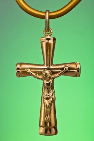 A Precious gold pendant, ideal like gift Stock Photo