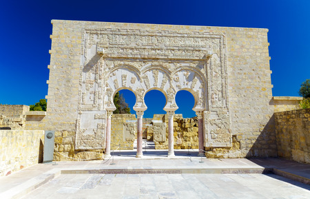 Entrance of Yafar's house, in archeological set of Madinat al-Zahra, Cordoba, Spain Stock Photo