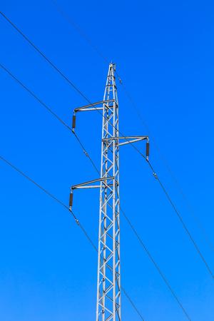 Metaalstructuur van transmissie van elektrische stroom Stockfoto - 77912087