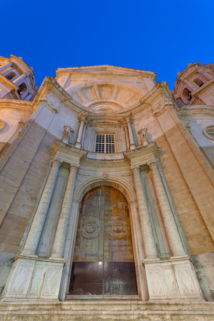 Wonderful cathedral of neoclassical style of ancient city of C�diz