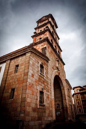 Church of the Assumption of Cangas de Onis, Asturias, Spain Archivio Fotografico - 128393005