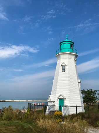 Beautiful old lighthouse at Port Dalhousie Harbour, St. Catharines, Ontario, Canada Stock fotó