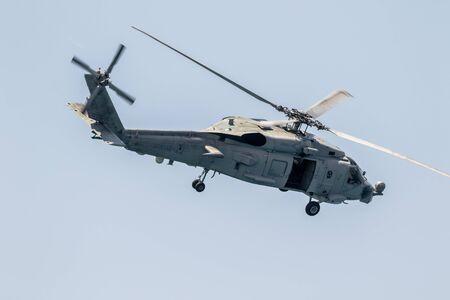 MOTRIL, GRANADA, SPANIEN-JUN 11: Hubschrauber SH-60B Seahawk Teilnahme an einer Ausstellung auf der 12. internationalen Airshow von Motril am 11. Juni 2017 in Motril, Granada, Spanien
