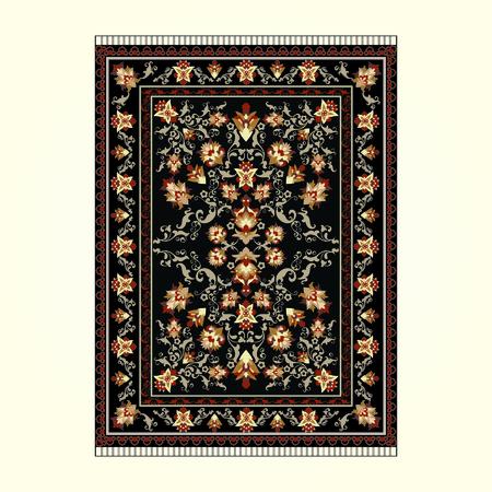 Persischer Teppich mit dunklem Hintergrund Vektorgrafik
