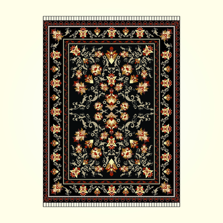 Persian Carpet With Dark Background