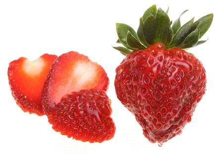 Tasty and Fresh strawberry Stock Photo