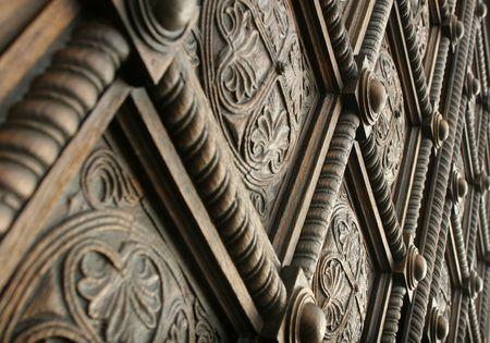 Beautiful carved wooden door