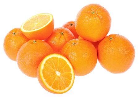 Bunch of Fresh Oranges Stock Photo
