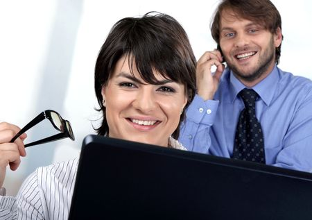 Call us business people Stock Photo - 5113083