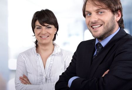 Smiling business people Stock Photo - 5113087