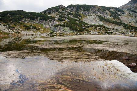 high altitude mountain lake in rila, bulgaria Stock Photo