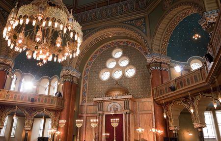 restored interior of the synagogue in Sofia, Bulgaria Standard-Bild