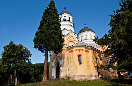 a view of  Pokrov Bogorodichen church near Sofia, Bulgaria