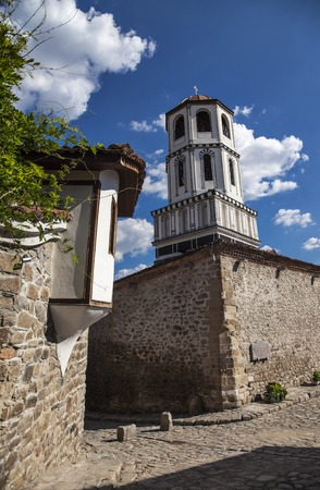 The St.St. Constantine and Helena dome in old town of Plovdiv, Bulgaria, vertical image.