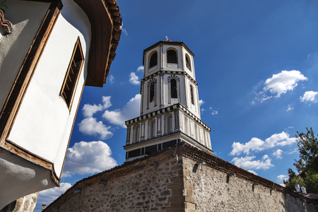 The dome of St.St. Constantine and Helena church in old town of Plovdiv, Bulgaria, Europe.