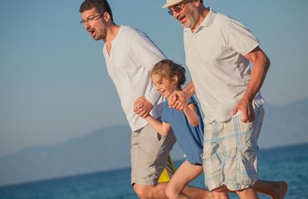 Beach Summer Vacation Generations Stock Photo