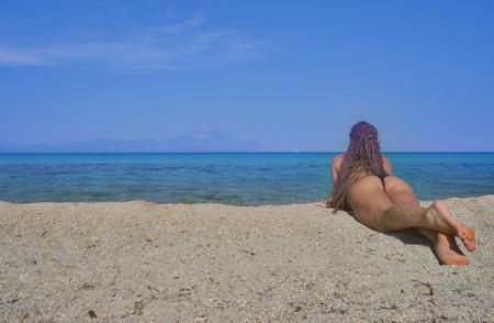 Mermaid Female Girl Beach Bikini Standard-Bild
